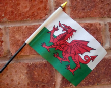 HAND WAVING FLAG (SMALL) - Wales